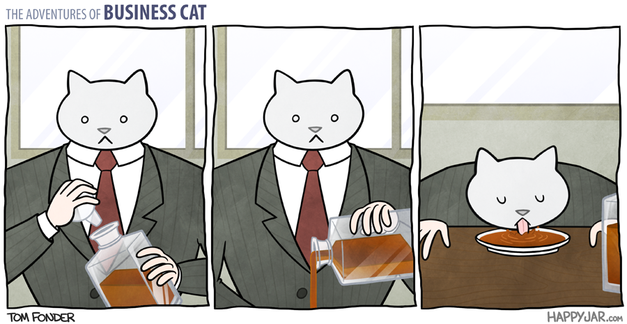 The Hilarious Adventures Of Business Cat