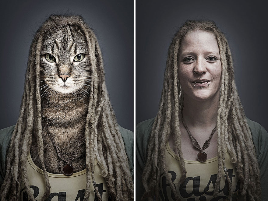 Photographer Merges Cats With Their Owners And The Results Are Purrfect